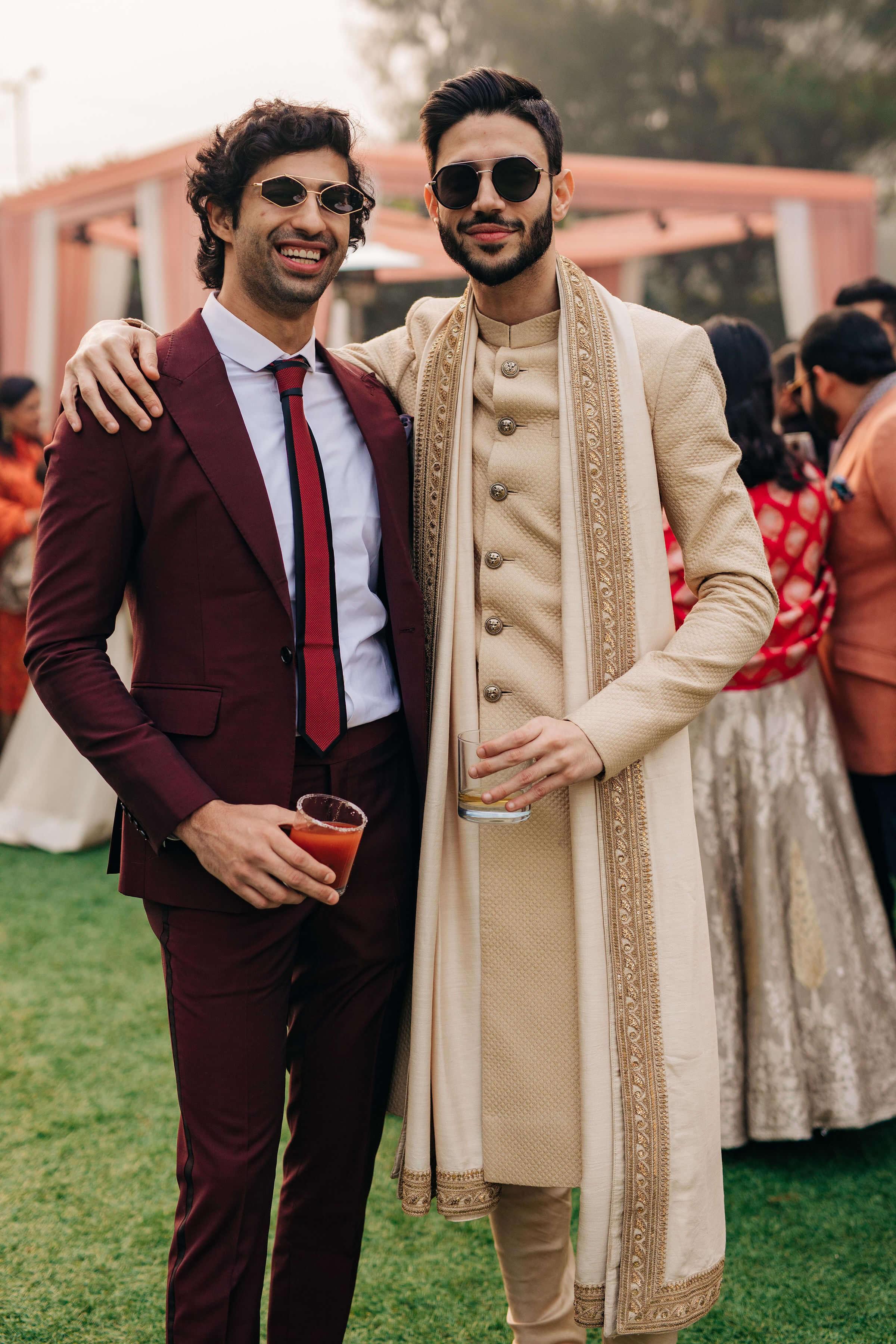 groom & his friend