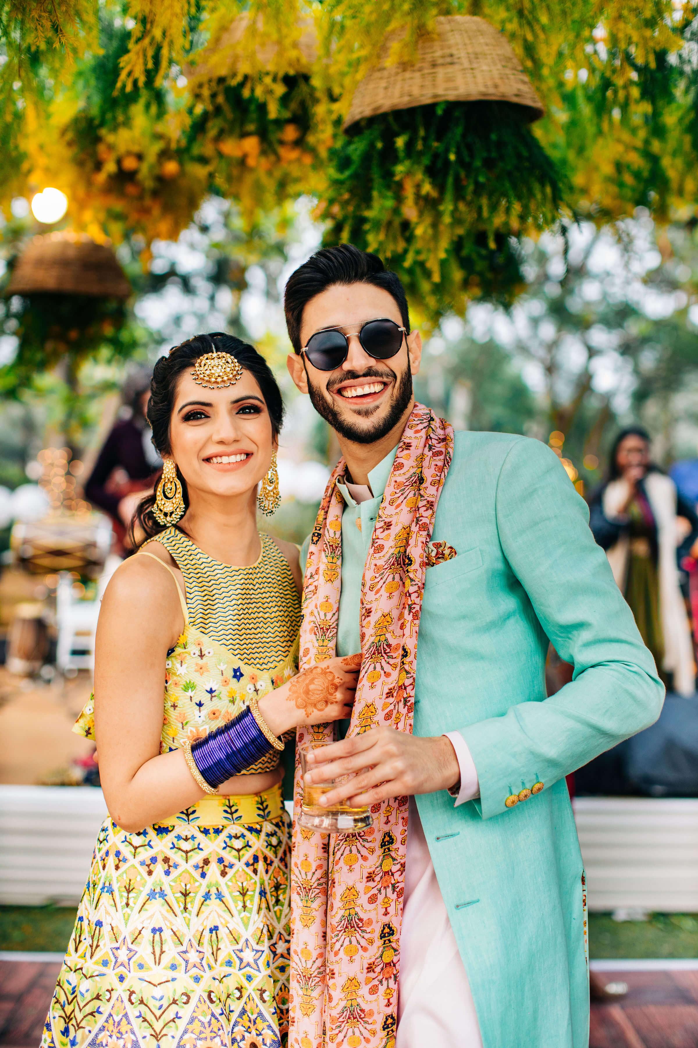 happy punjabi couple