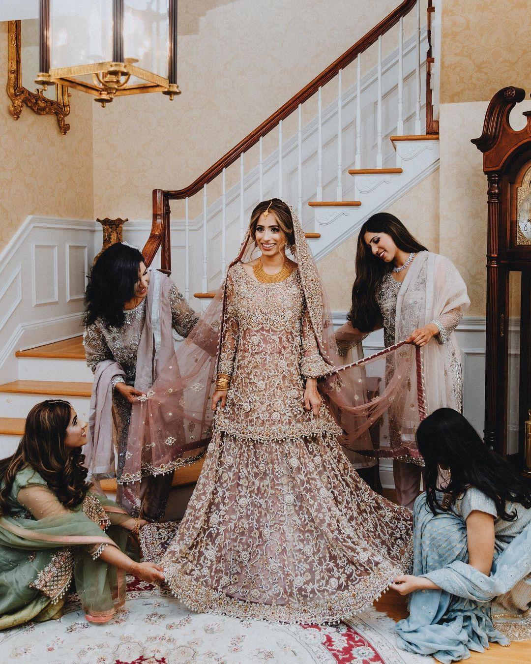 heavy bridal lehenga for Muslim brides