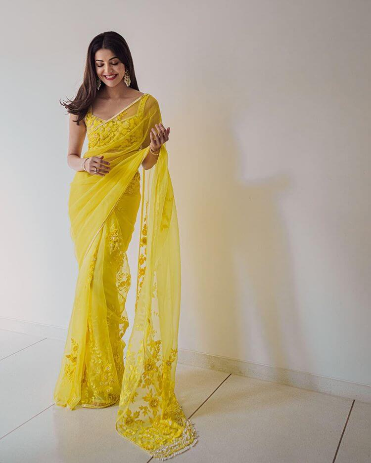 yellow saree for brides
