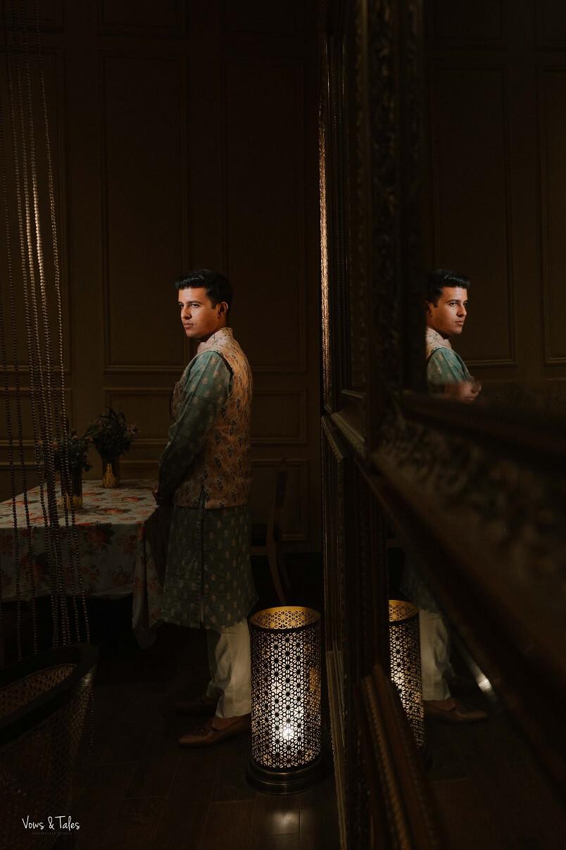 mehendi groom portrait
