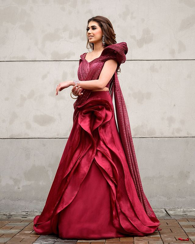mulberry sculpted gown