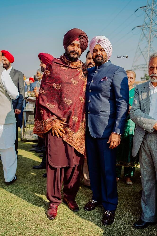 navjot singh sidhu at wedding