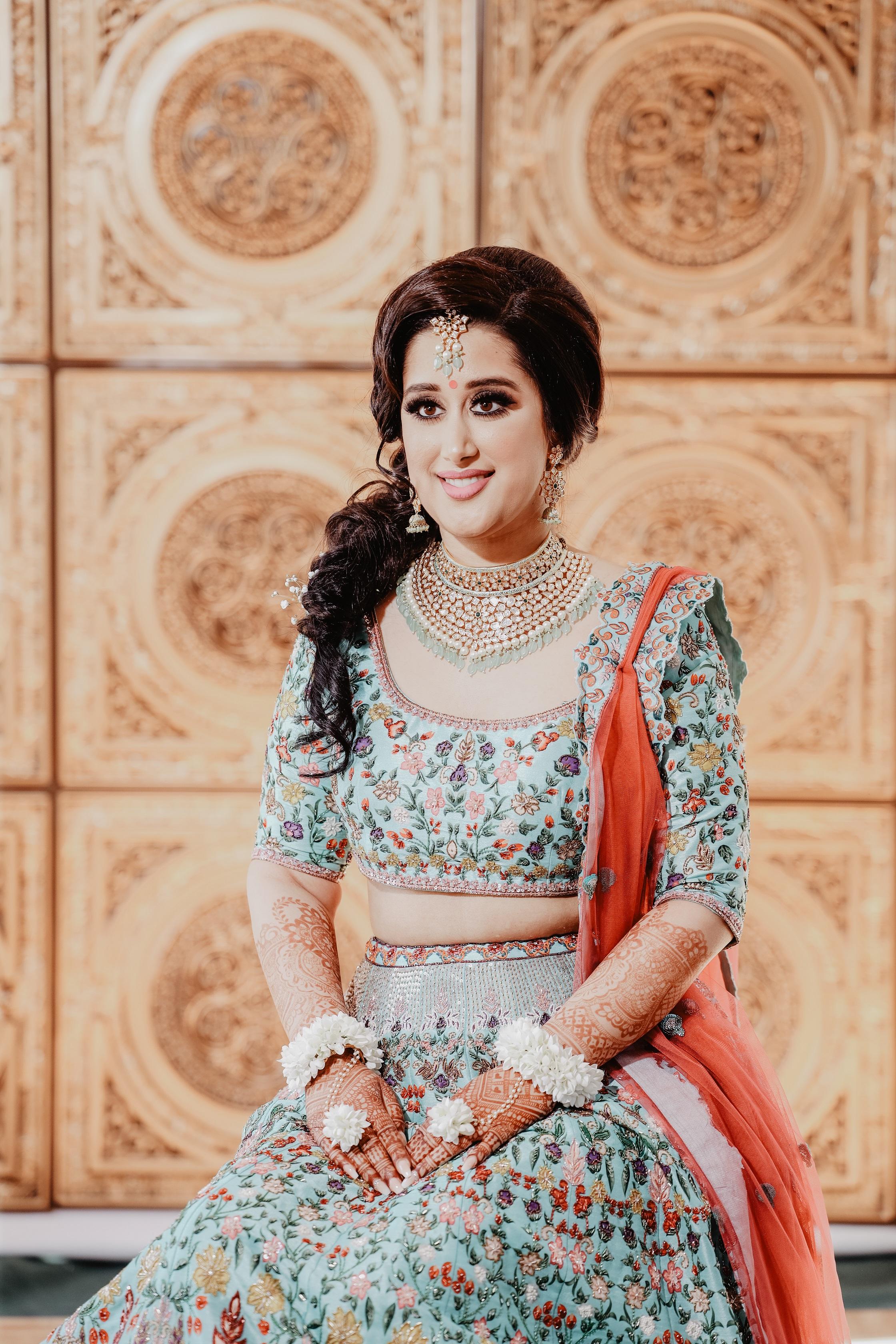 offbeat bridal lehenga colors
