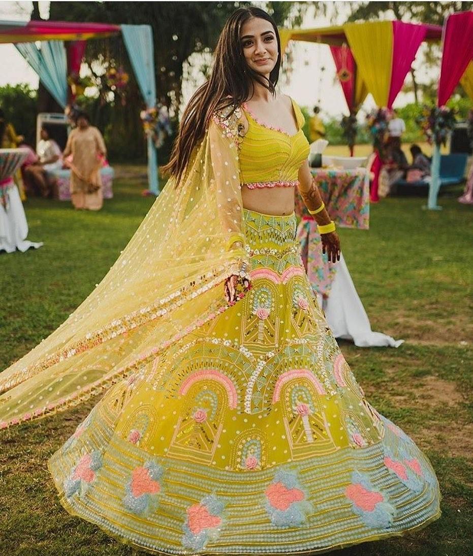 offbeat bridal lehenga design