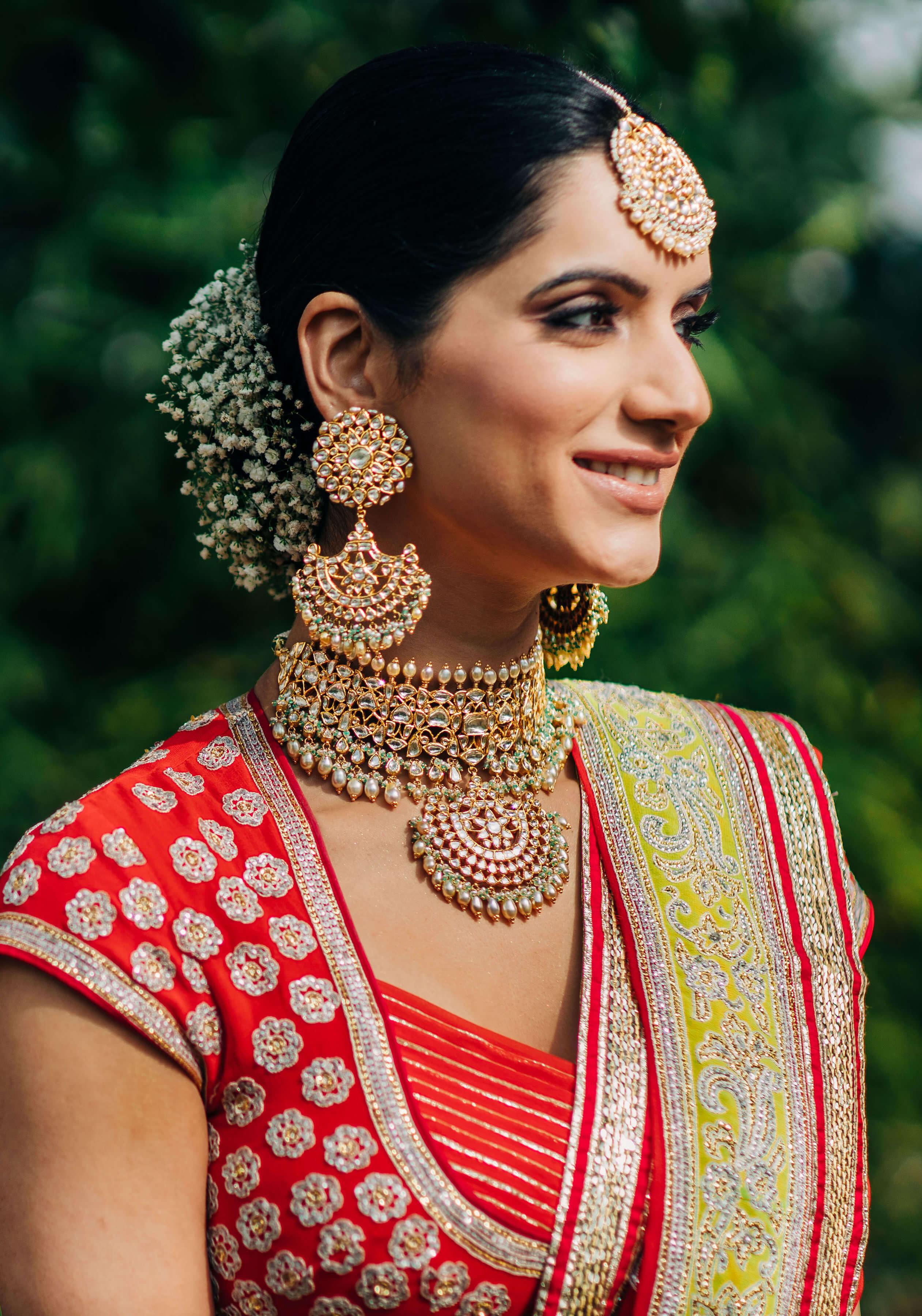 oversized wedding jewellery
