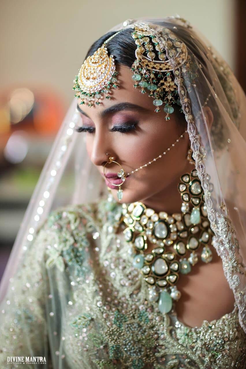 pastel wedding jewellery
