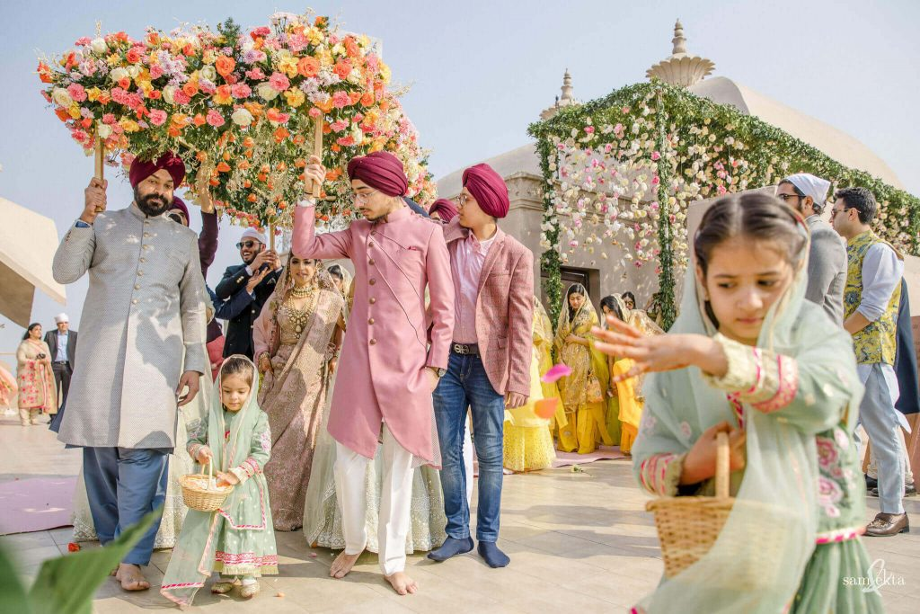 unique bridal entry