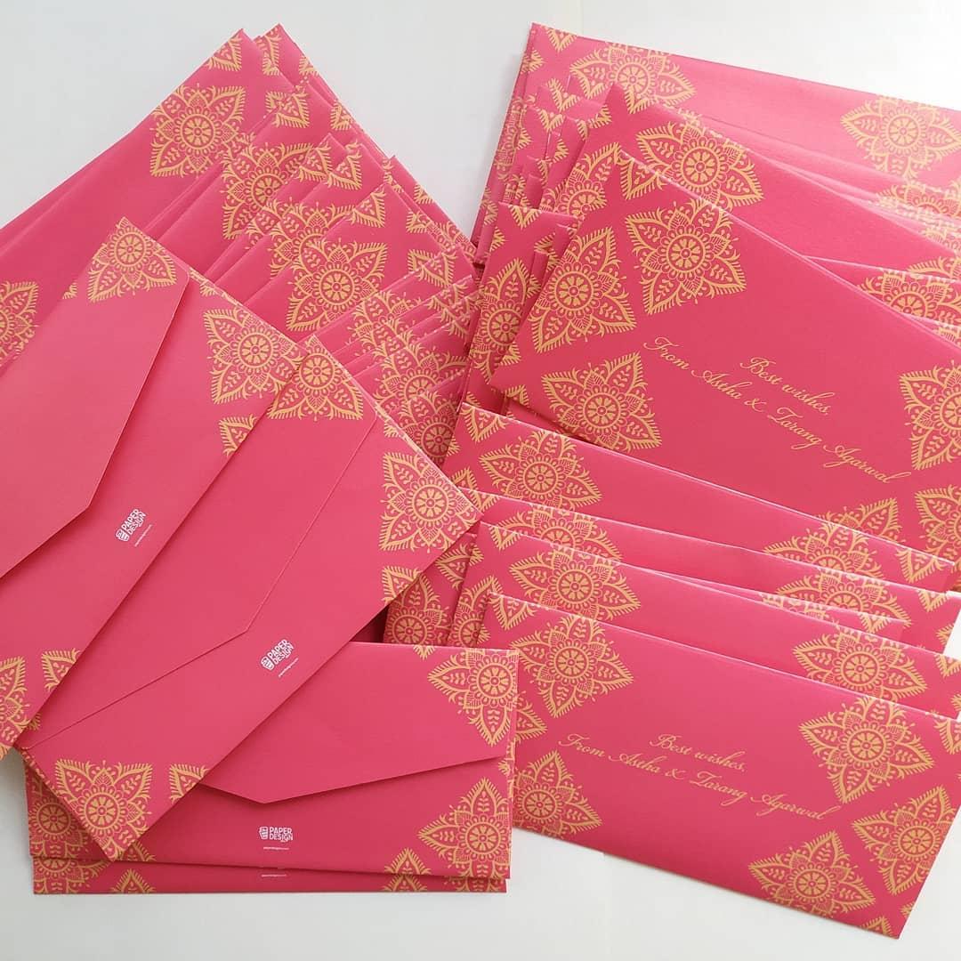 pink sagan envelopes