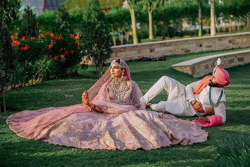 playful punjabi couple