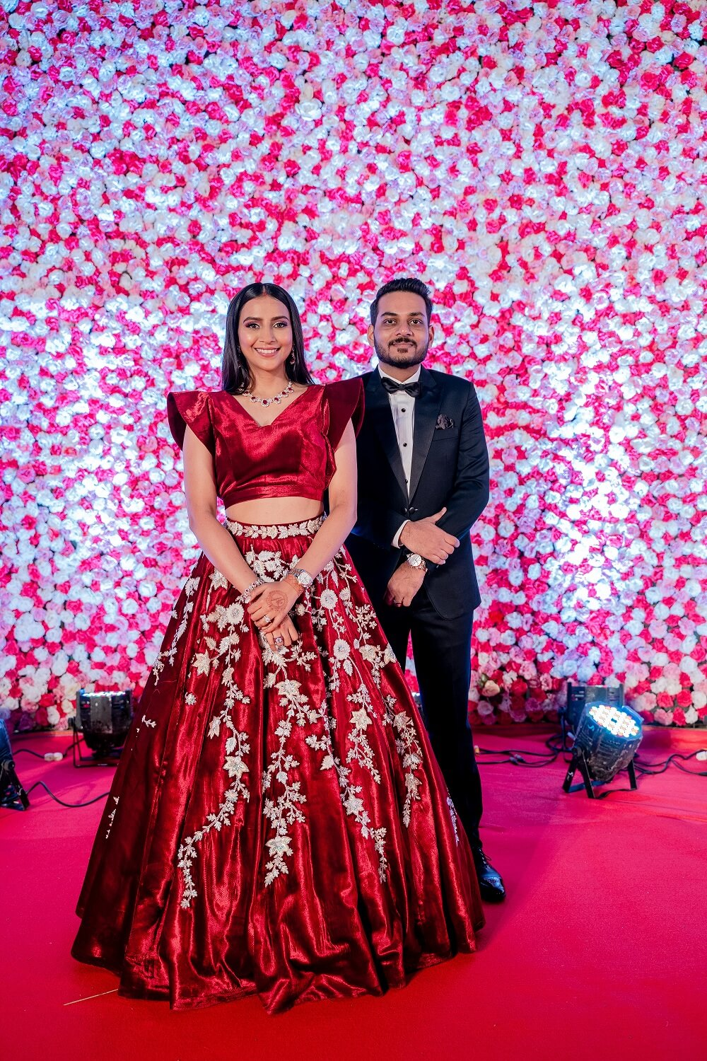 reception couple outfits