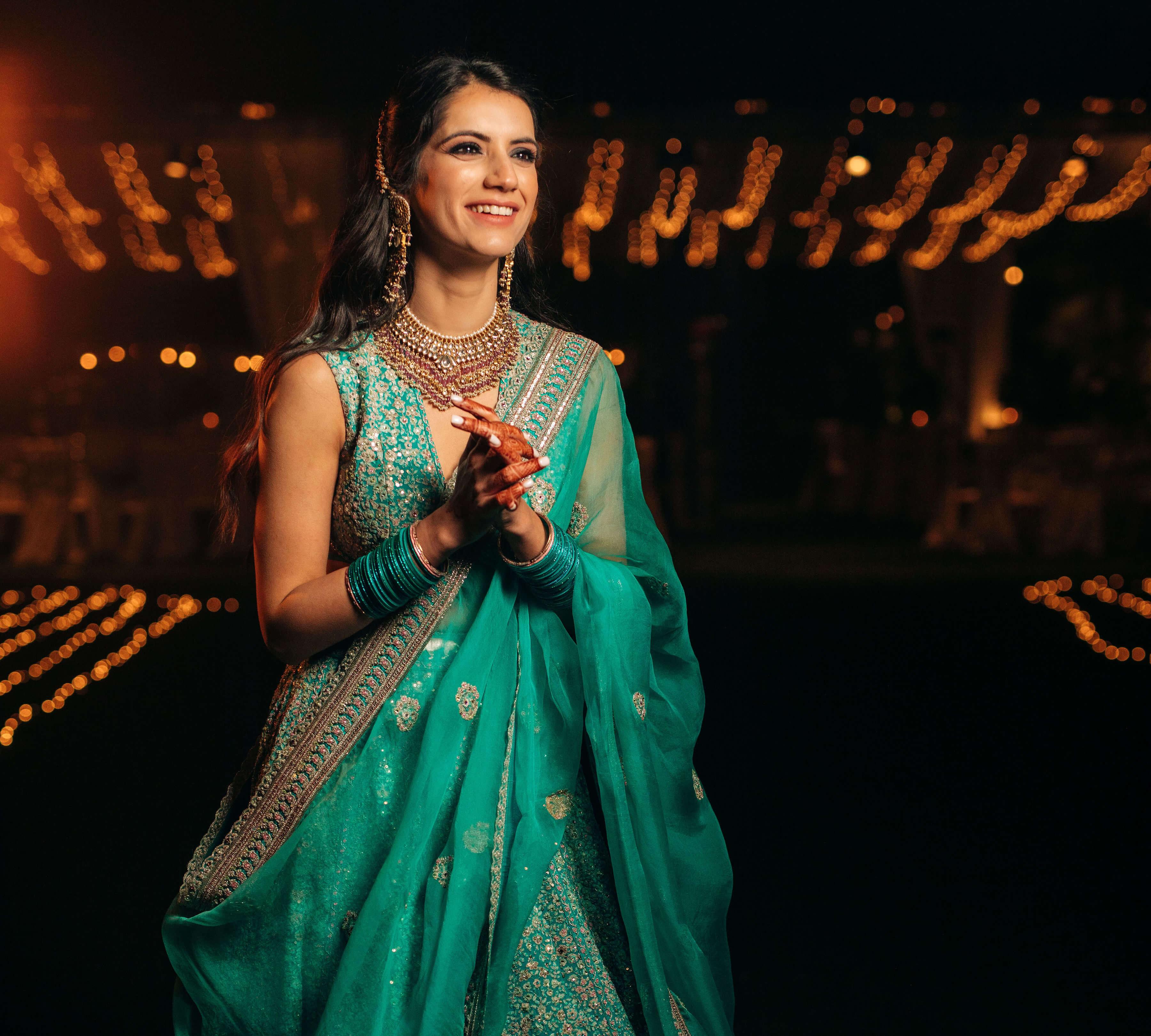 smiling bridal shot