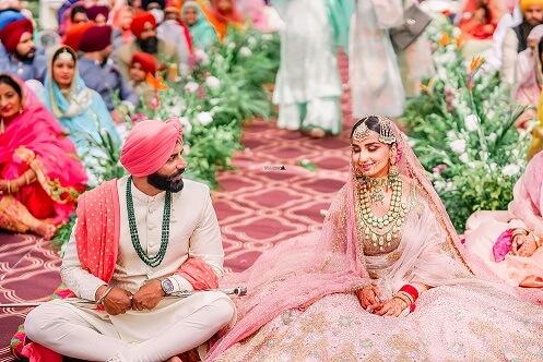 smiling shot during wedding