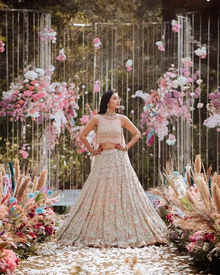 Pastel Shades In Bridal Lehenga