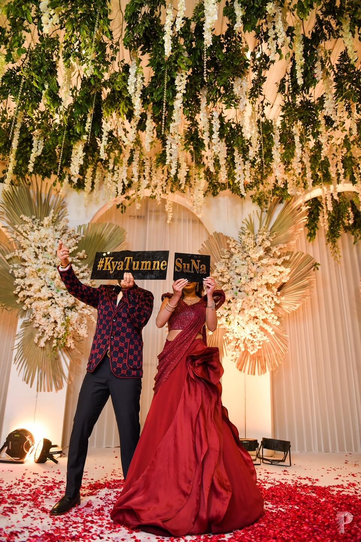 wedding hashtag props