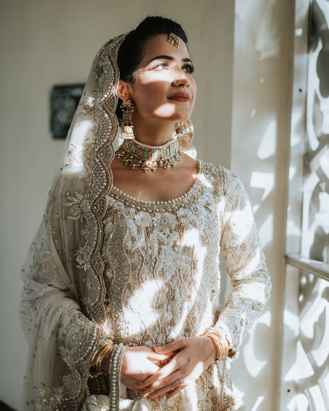 white bridal outfits