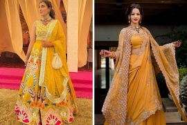 yellow outfits for brides