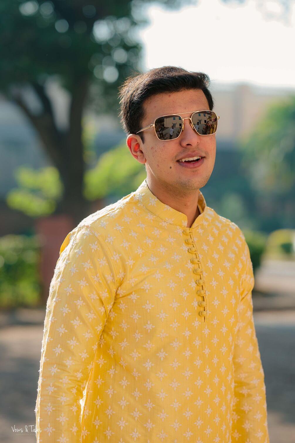 yellow kurta pyjama