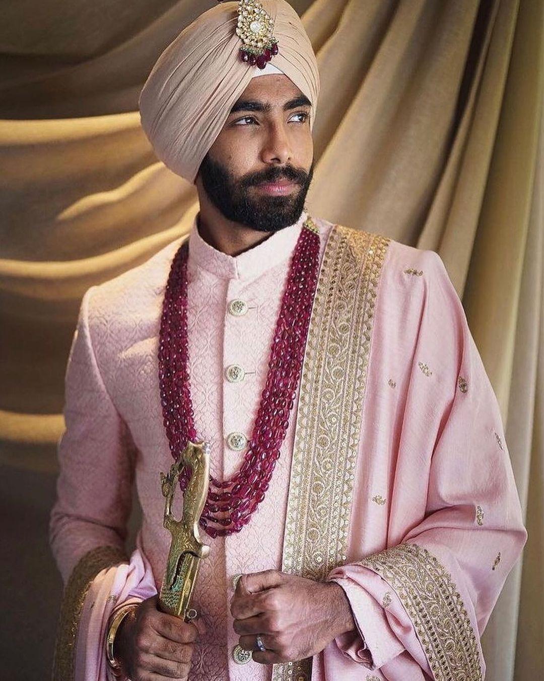 Jasprit Bumrah groom outfit