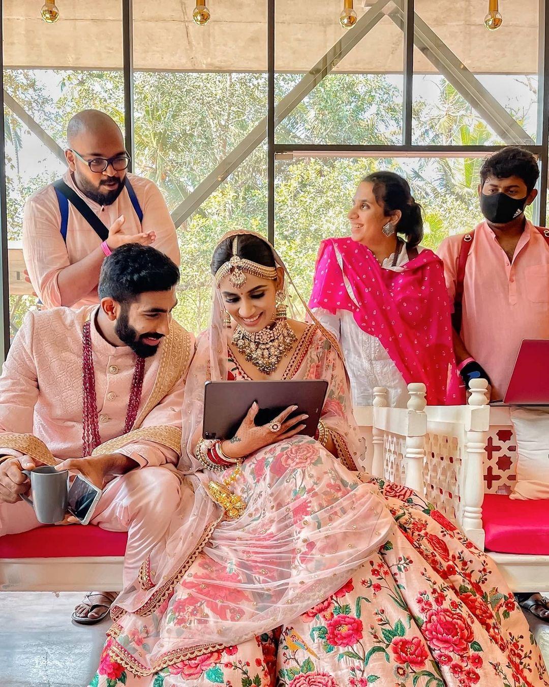 Jasprit Bumrah wedding with Sanjana Ganesan