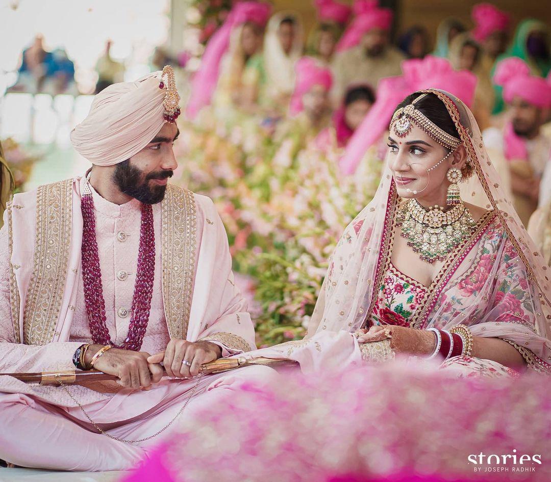 Jasprit Bumrah's wedding pictures
