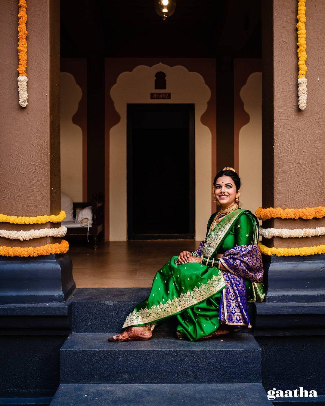 Marathi bridal saree
