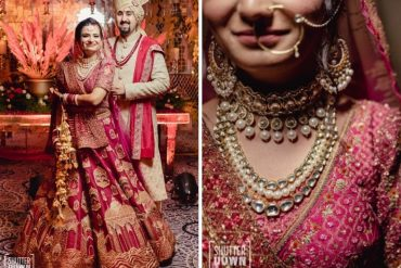 Pink Lehenga With Kundan & Pearl Jewelry