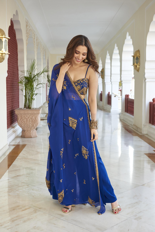 Tamannaah Bhatia in blue sharara