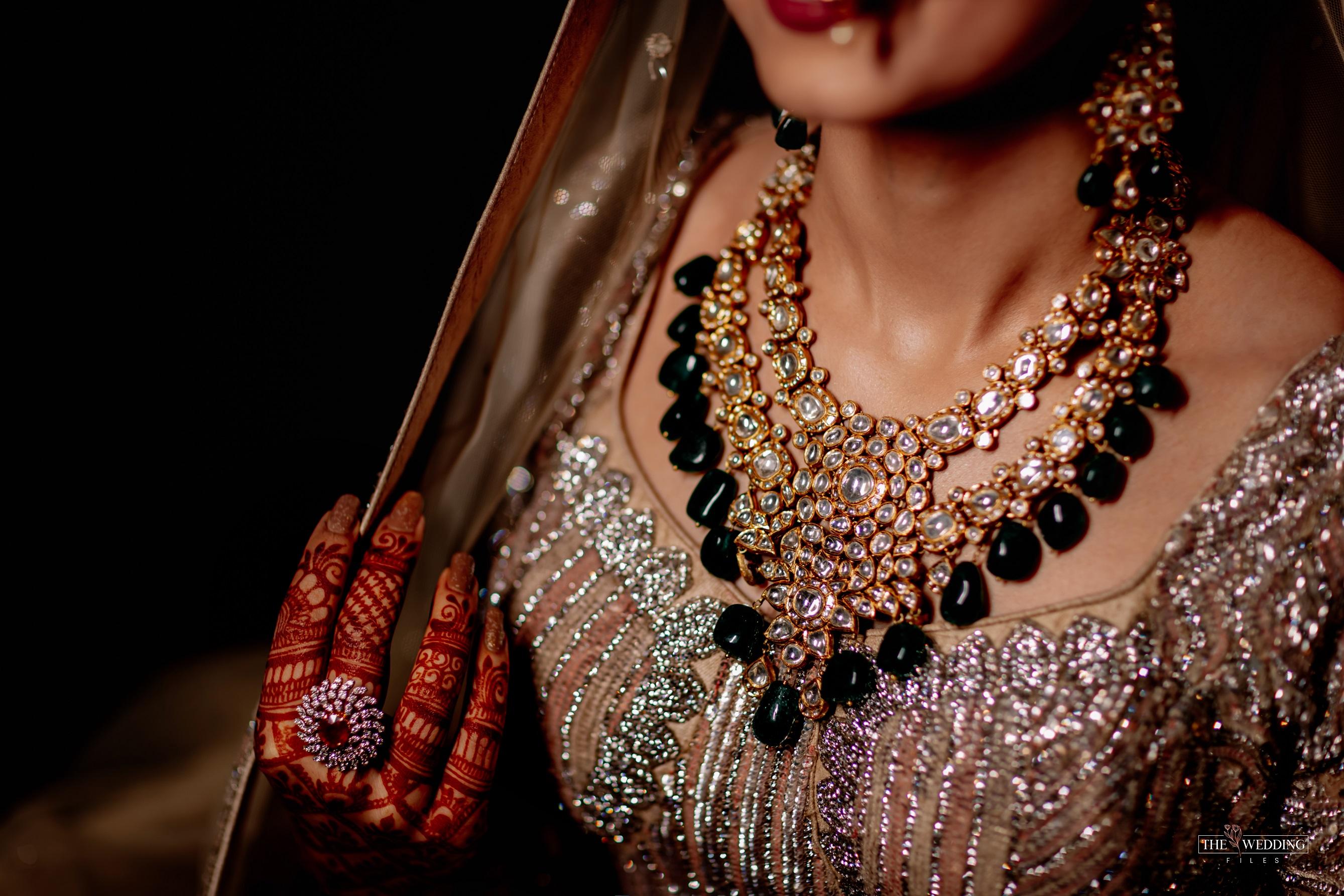 bridal jewellery polki necklace