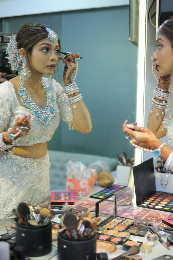 bride who did her own makeup