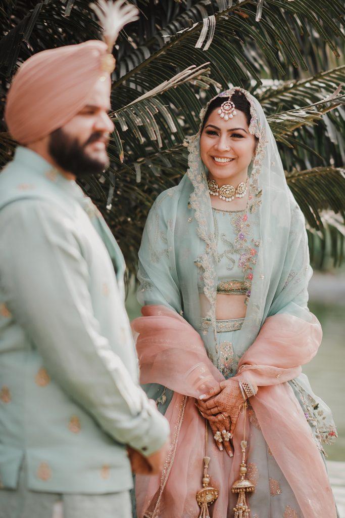 powder blue wedding outfits