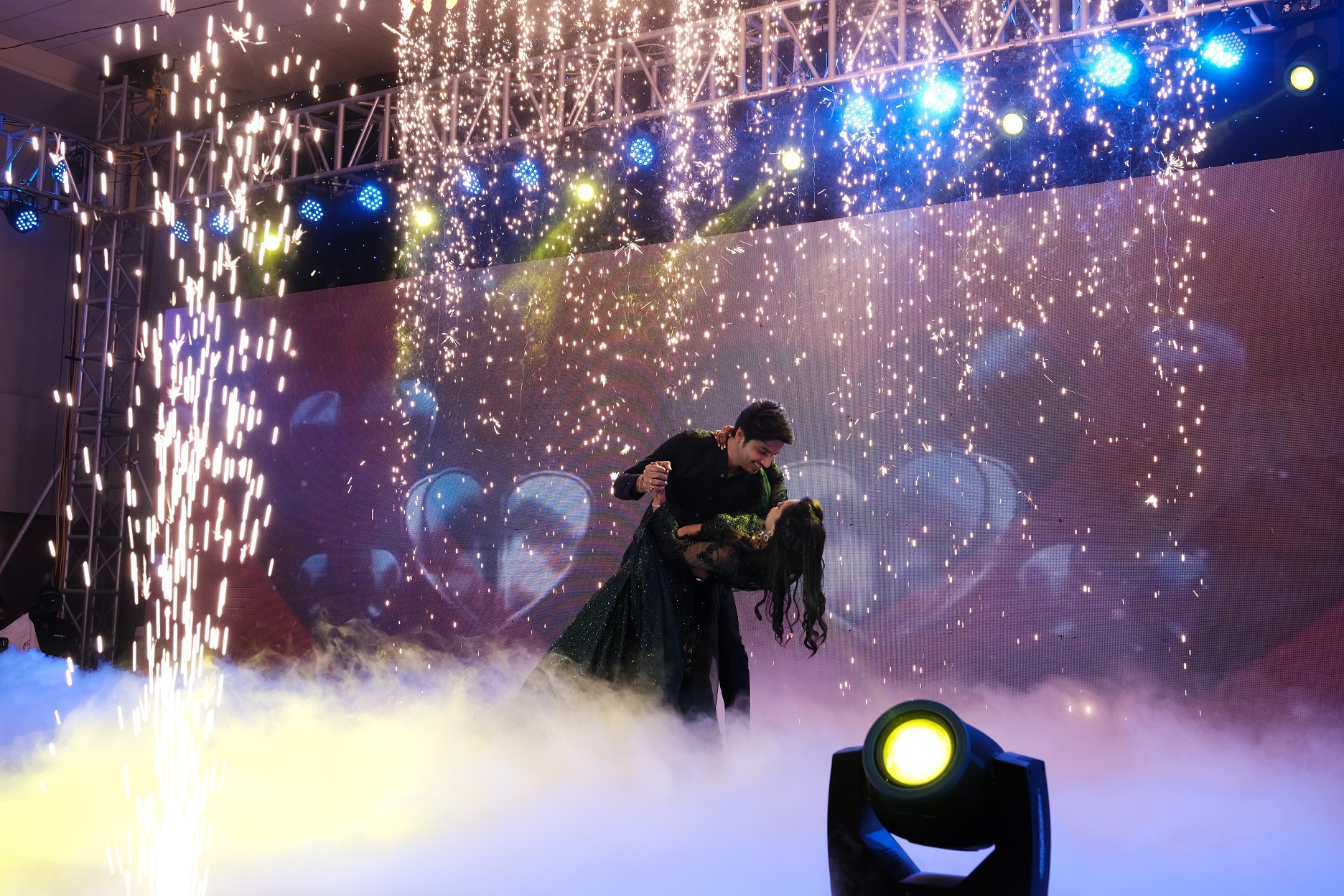 couple sangeet performance