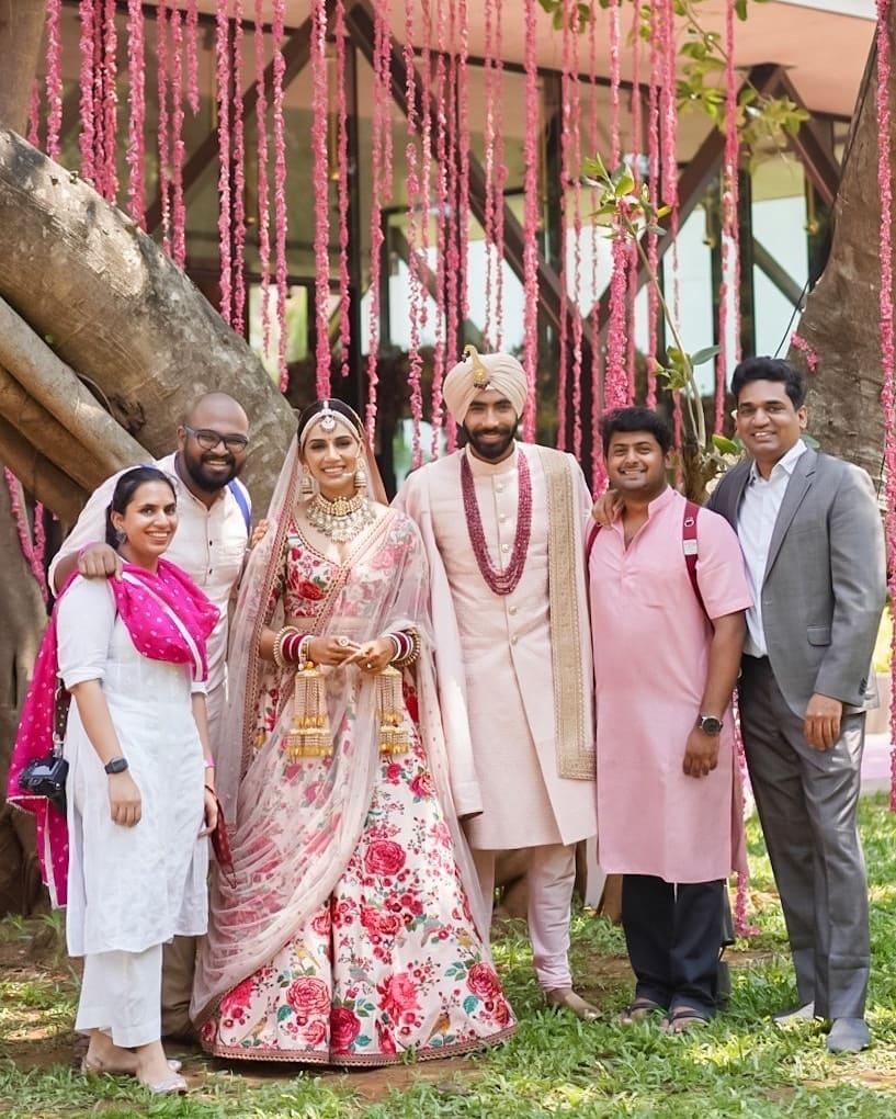 cricketer Jasprit bumrah wedding