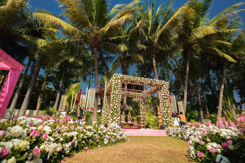 floral mandap decor