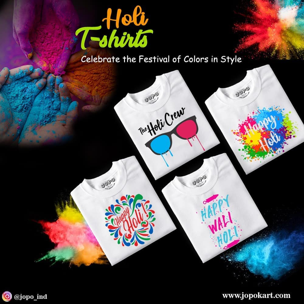 Matching Couple T-Shirts For Holi