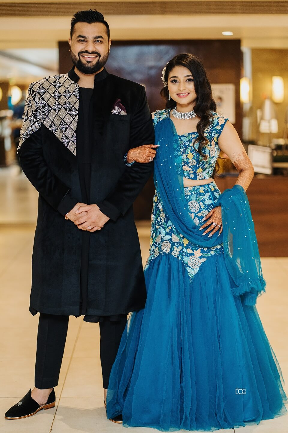 sangeet couple outfits