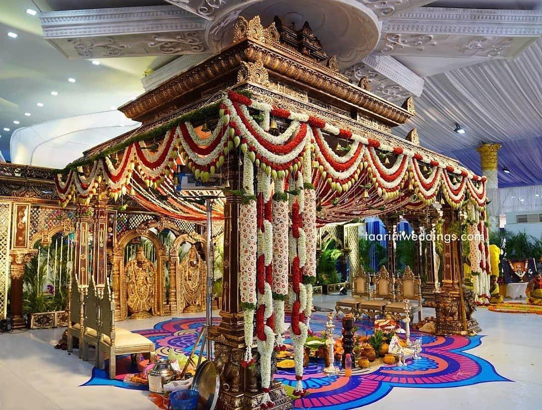 south indian mandap decor