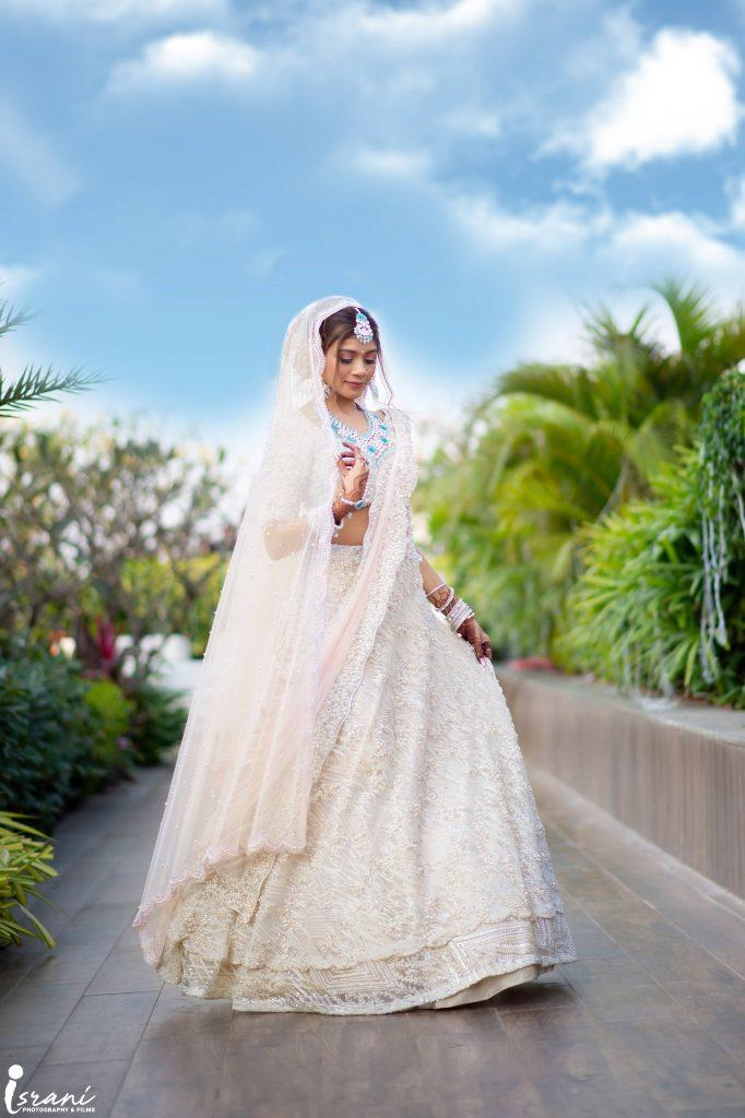 white wedding lehenga