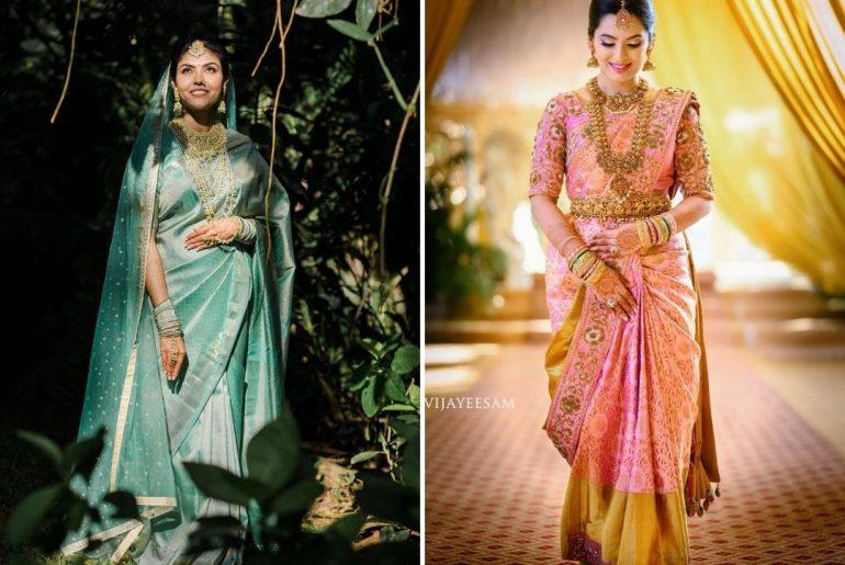Make Way For Pastel Kanjeevaram Sarees Featuring Gorgeous South Indian Brides