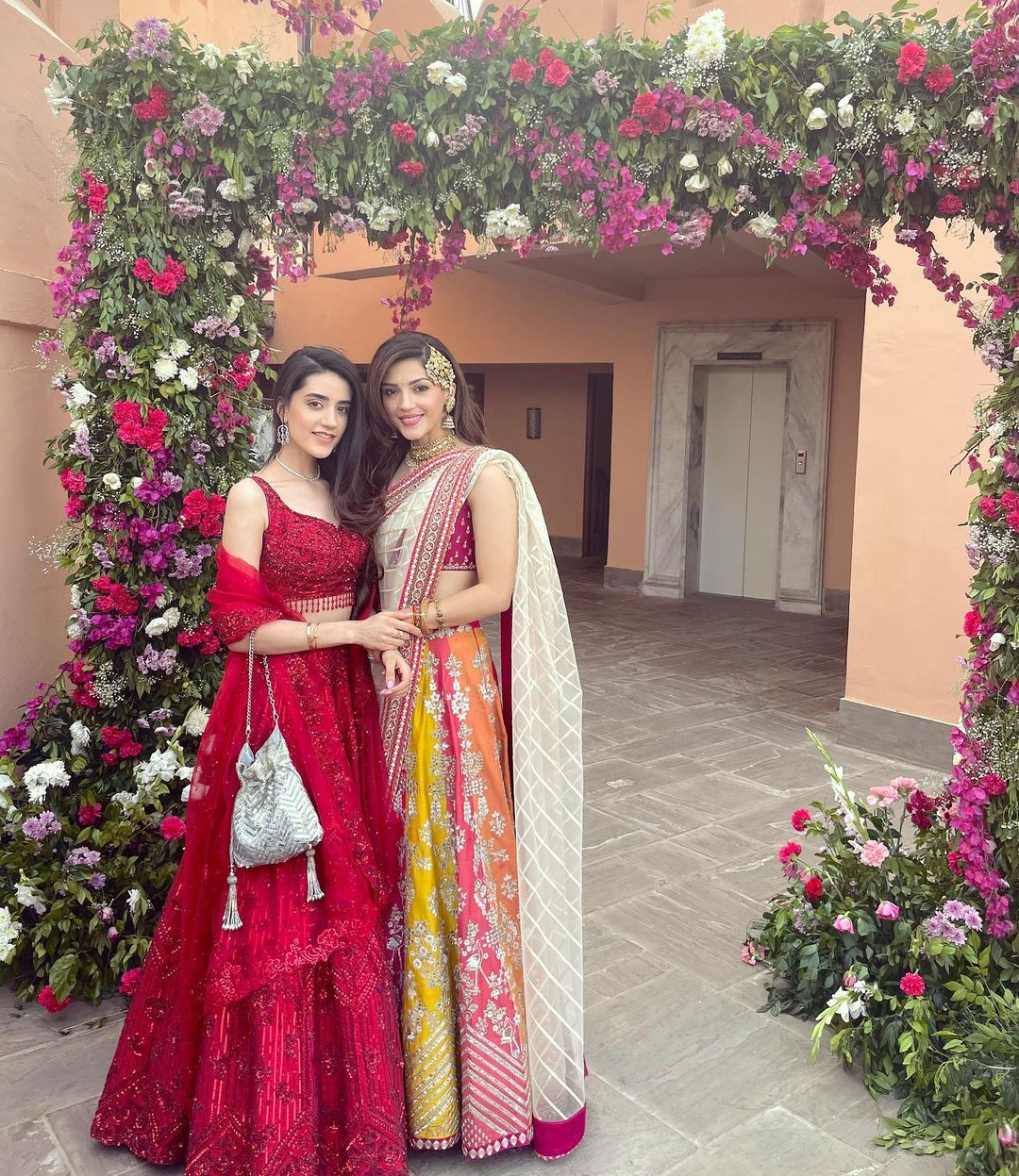 Mehreen Pirzada with her sister-in-law