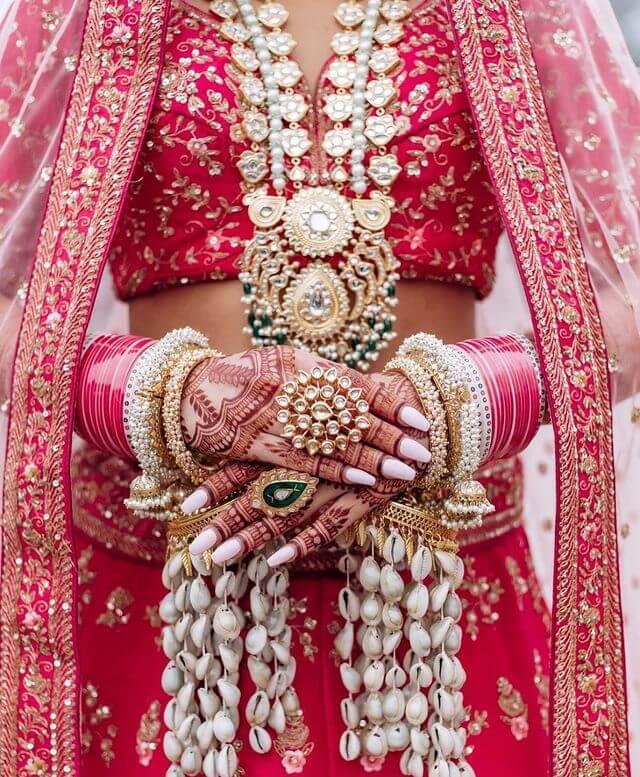 Seashell Bridal Kaleeras
