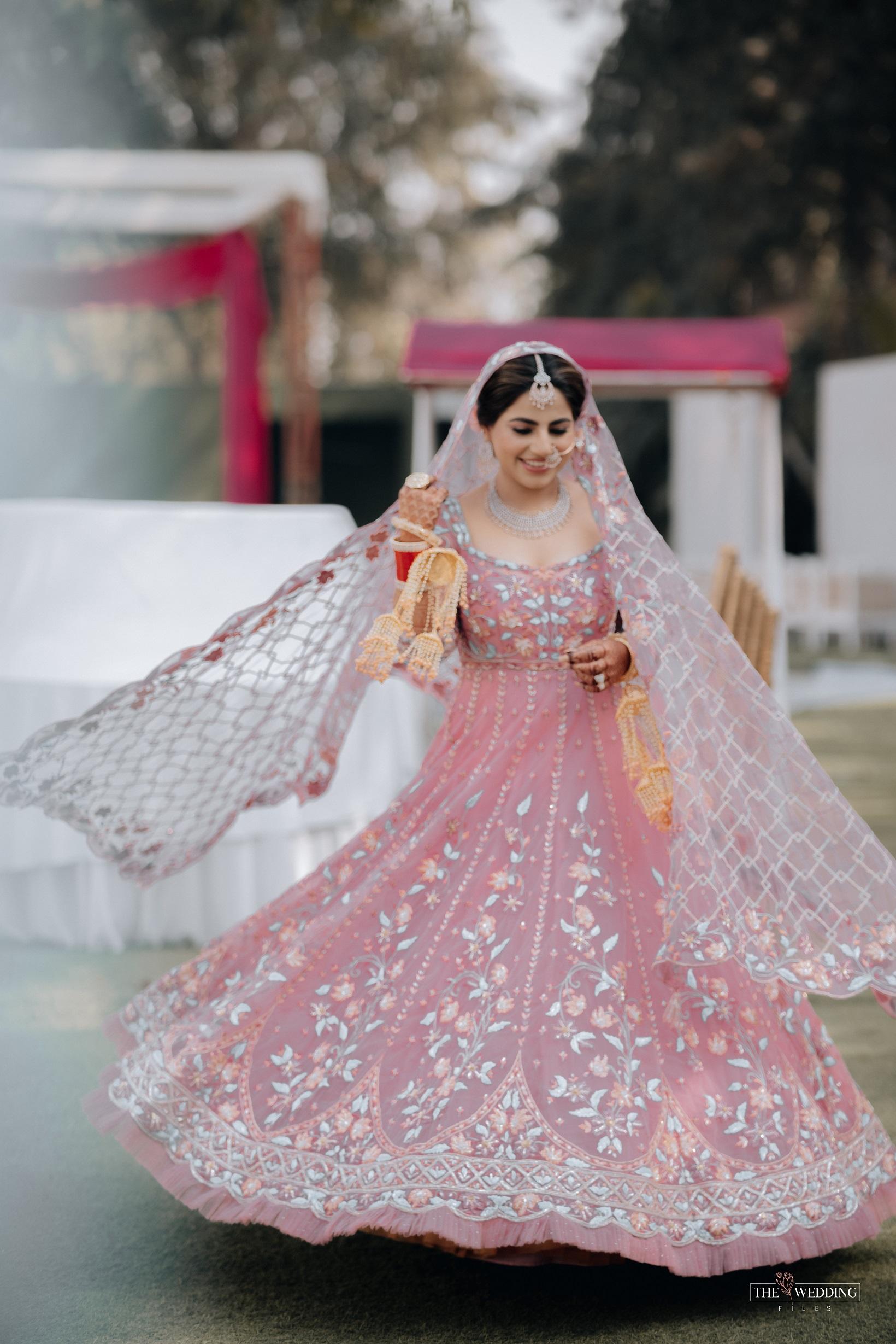 bridal pink Anarkali