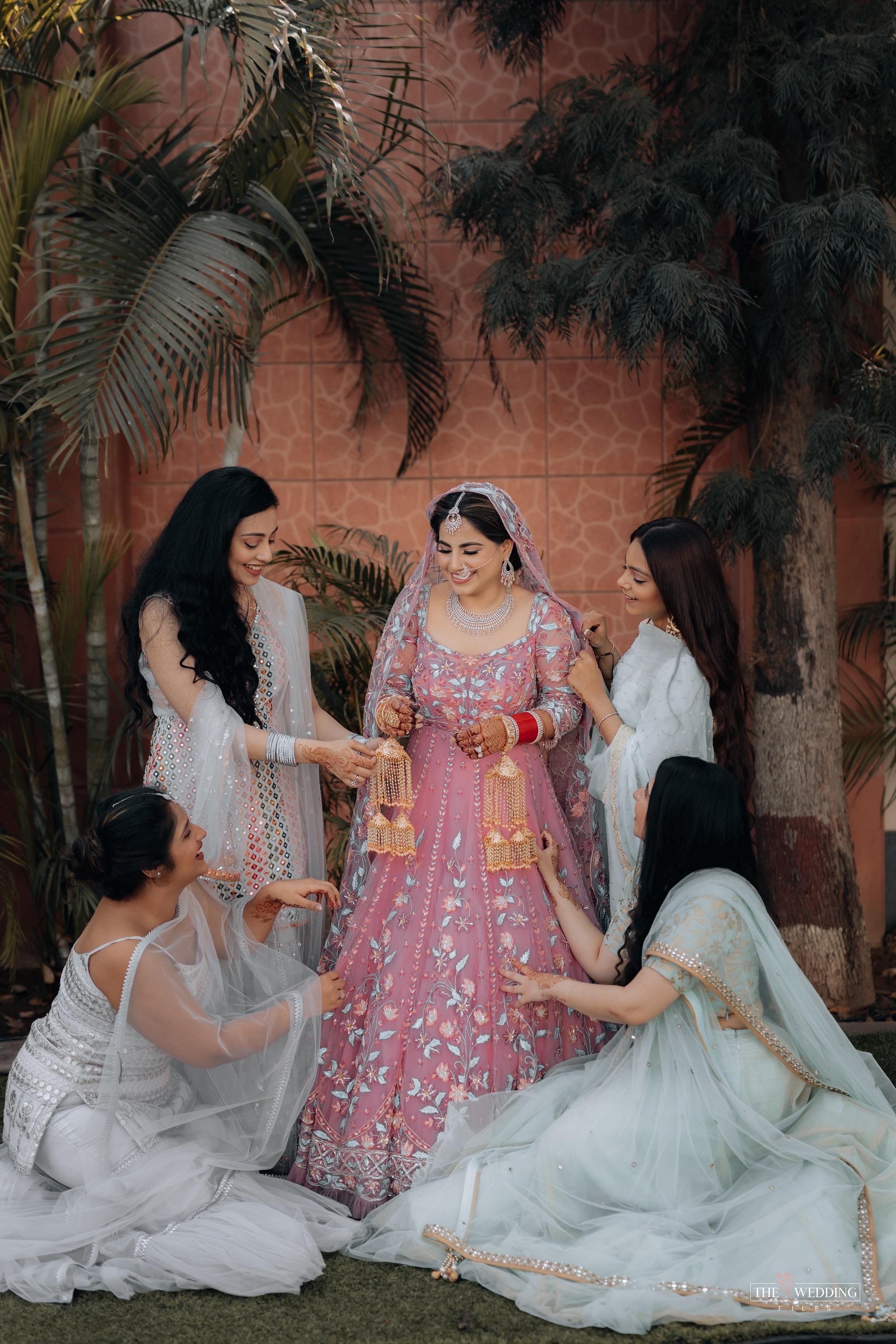 bride with bridesmaid photo