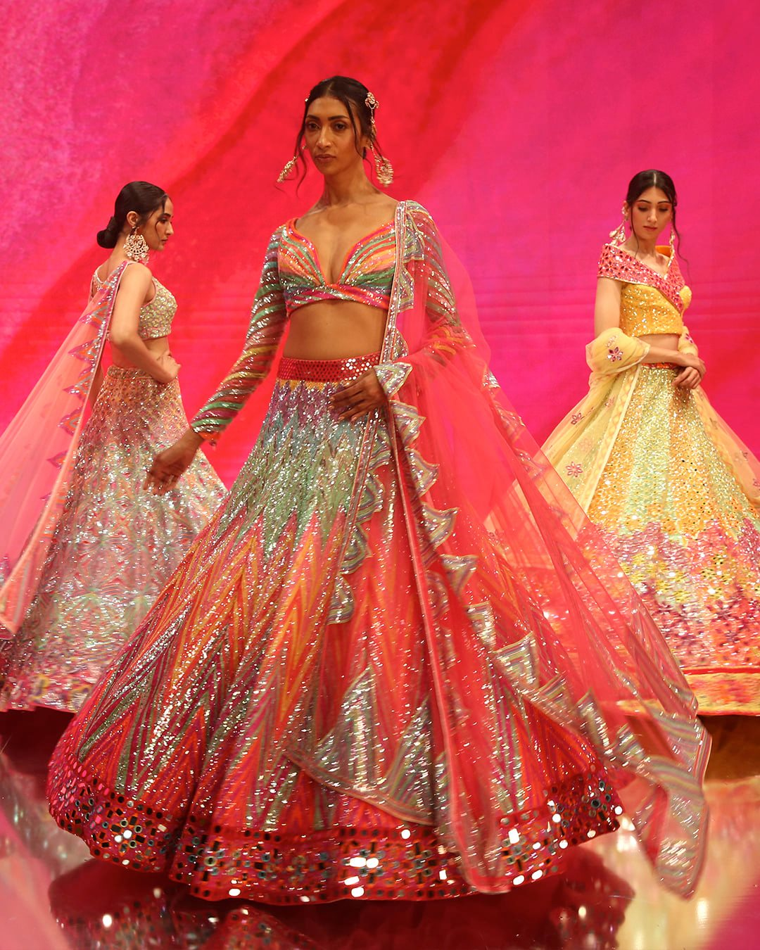 bright colored lehenga