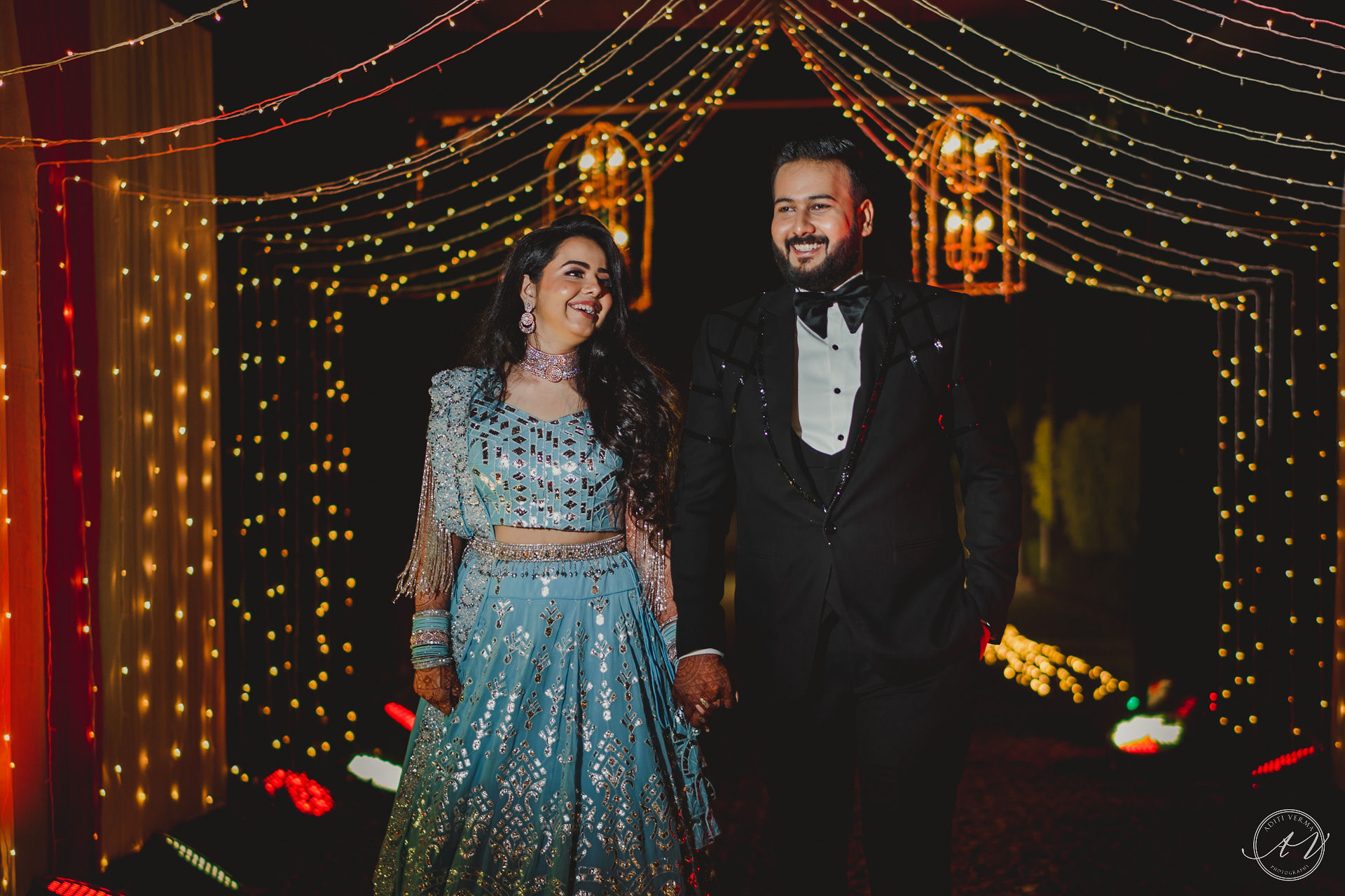 couple sangeet outfits