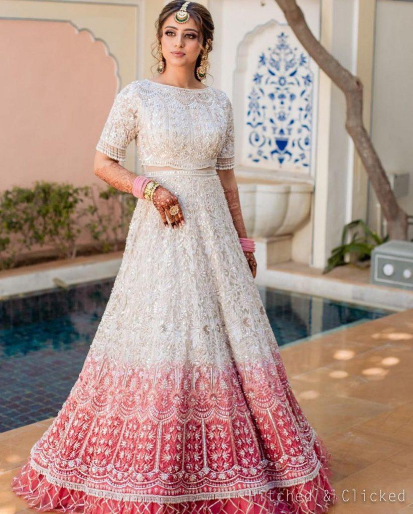 bridal mehendi dress