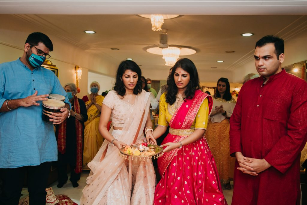 twin sister wedding