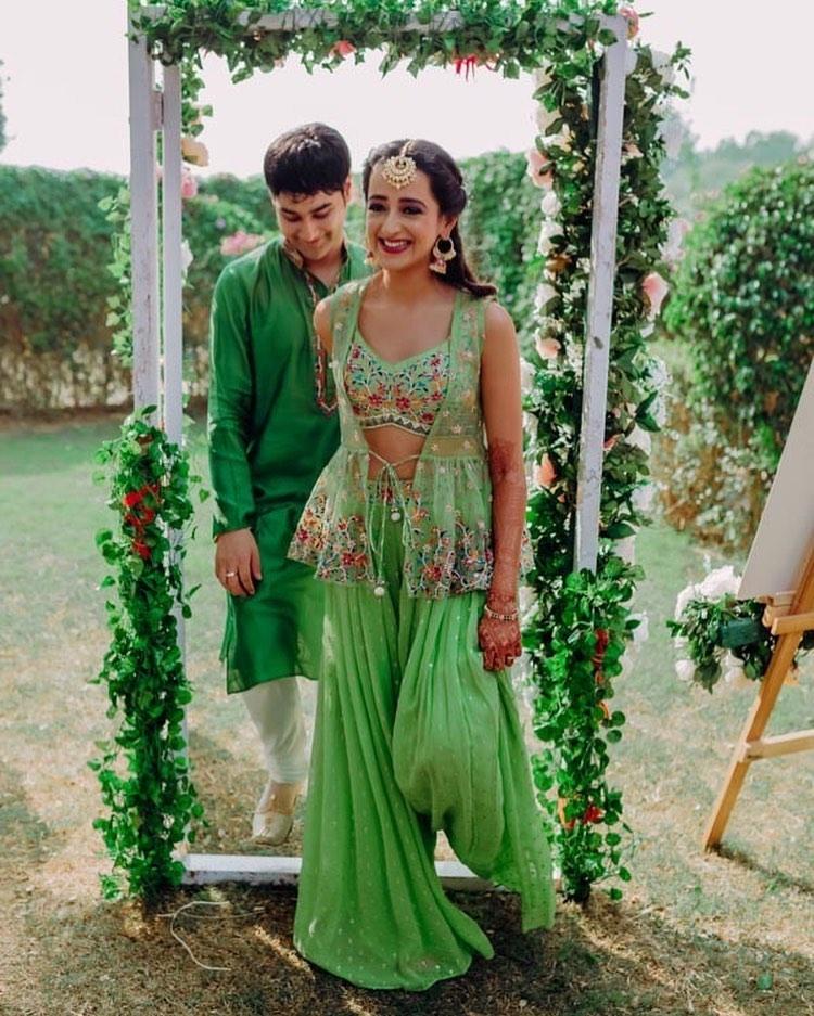 green bridal sharara