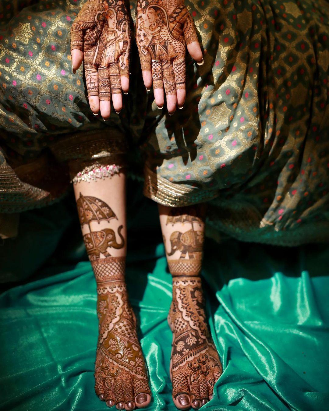 hand and feet mehendi design