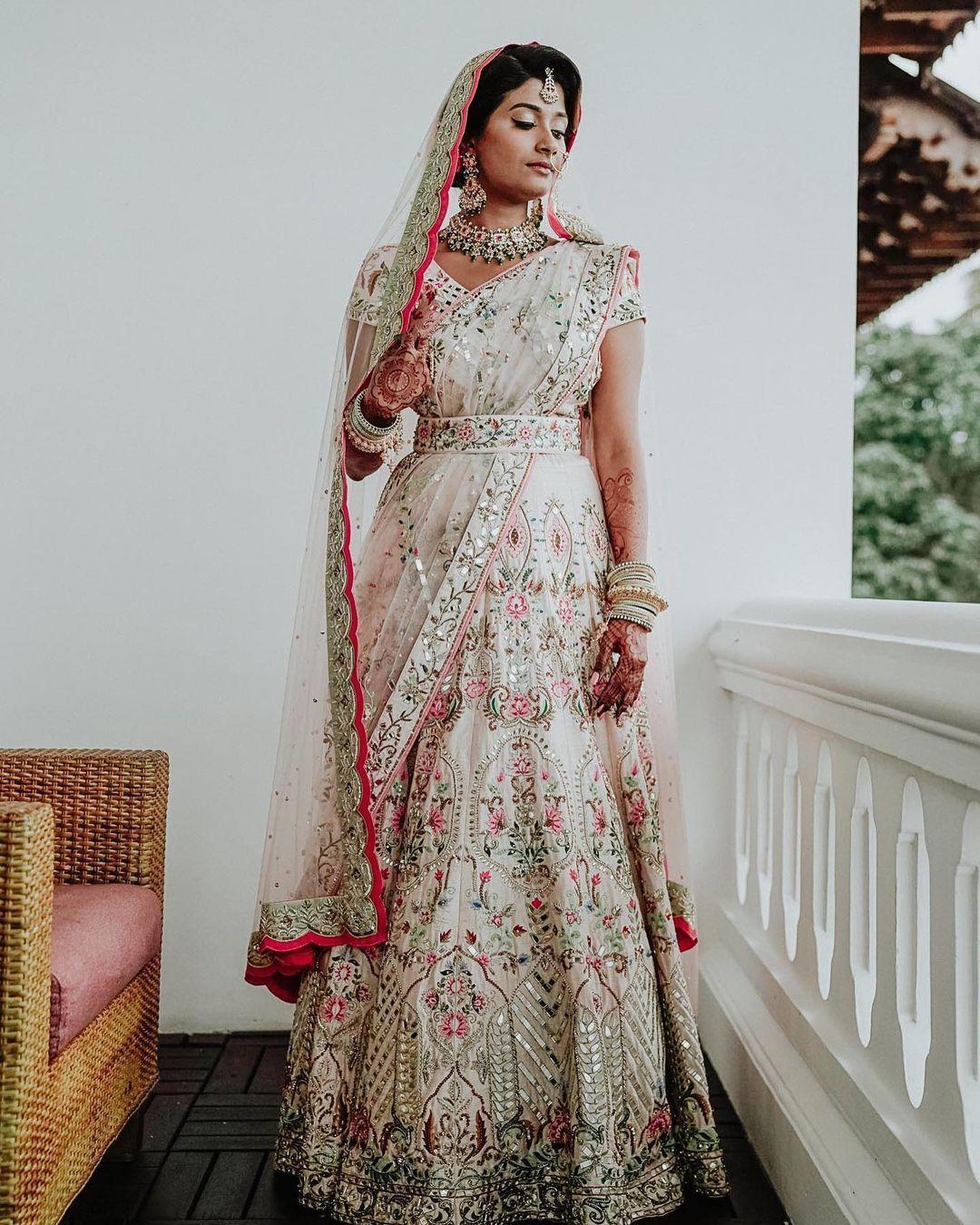 matching belt with bridal lehenga